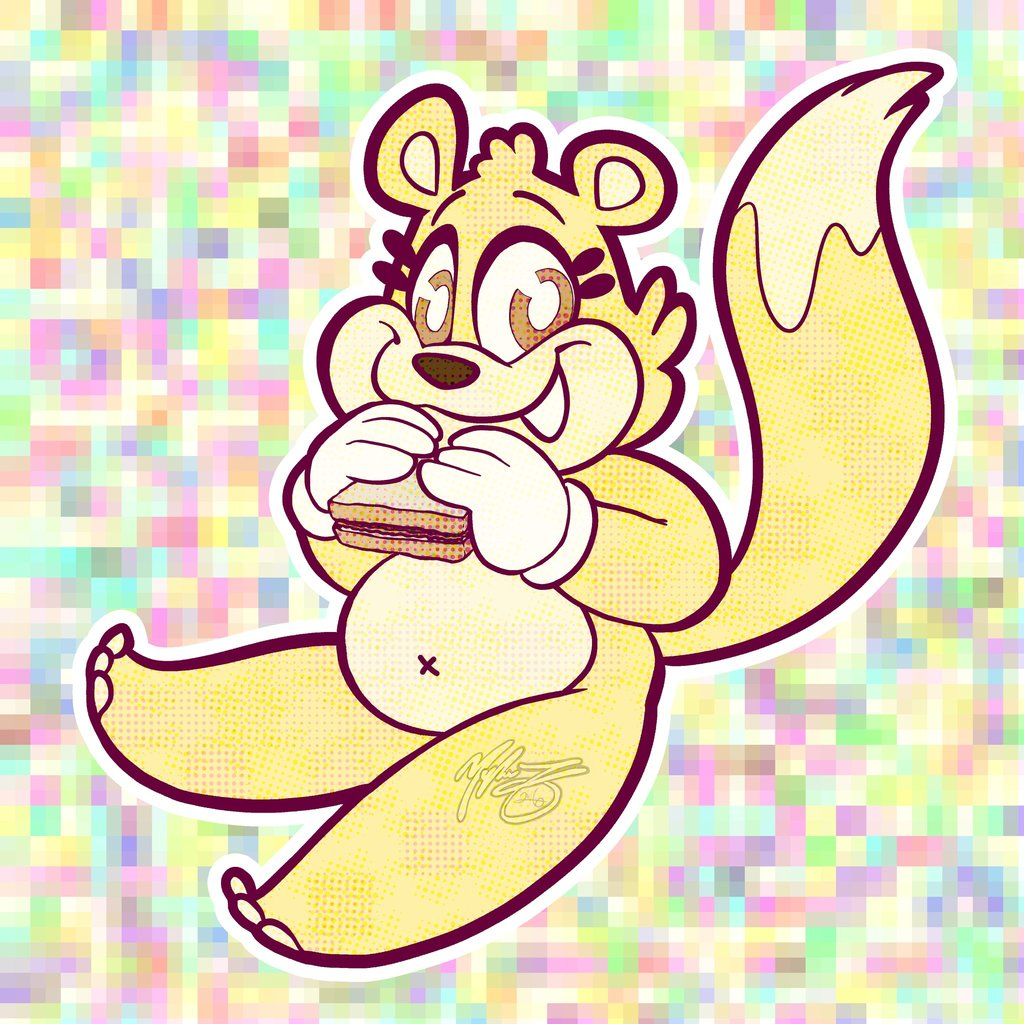 Chibi Butterpop Enjoys a PB & J Sandwich
