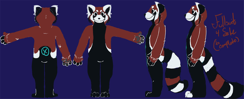 Red Panda Fullsuit or sale: Concept art