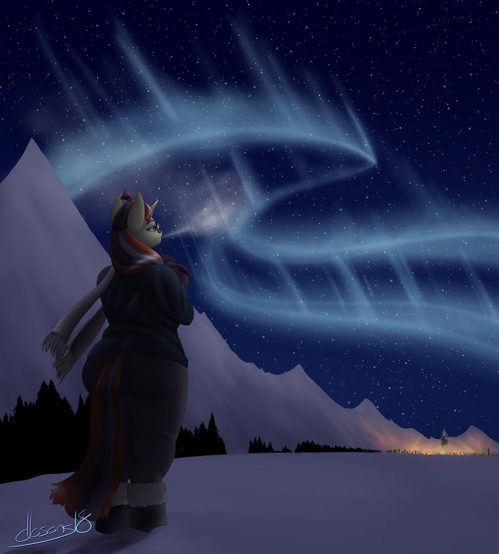 Most recent image: dancing skies