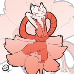 Smug Teenage Kitsune