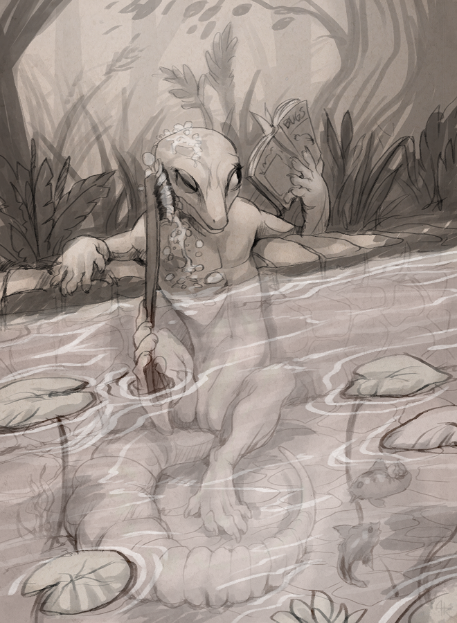 .Bathing Lyell.