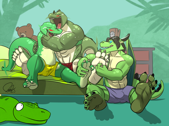 Reptilian's Tickling Competition