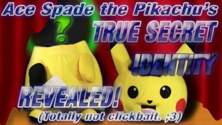 Mascot Fursuiting: Ace Spade the Pikachu's TRUE SECRET IDENTITY REVEALED! (Totally not click-bait)