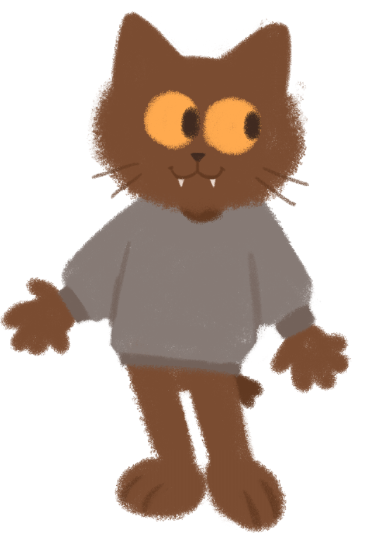Most recent image: fursona kitty doodle