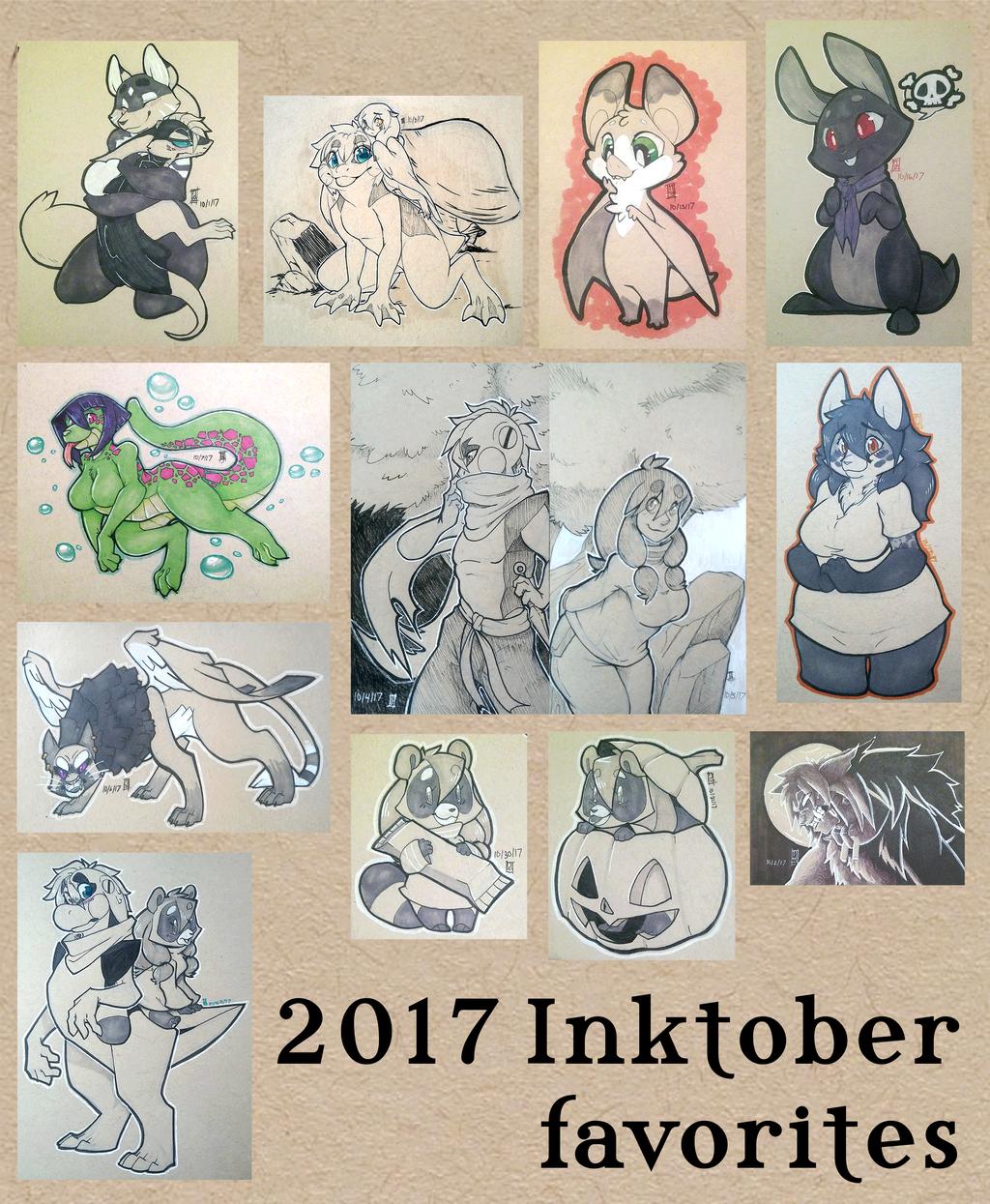 Inktober 2017 favorites
