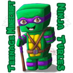 [Doodle] TMNT x Minecraft: Donatello