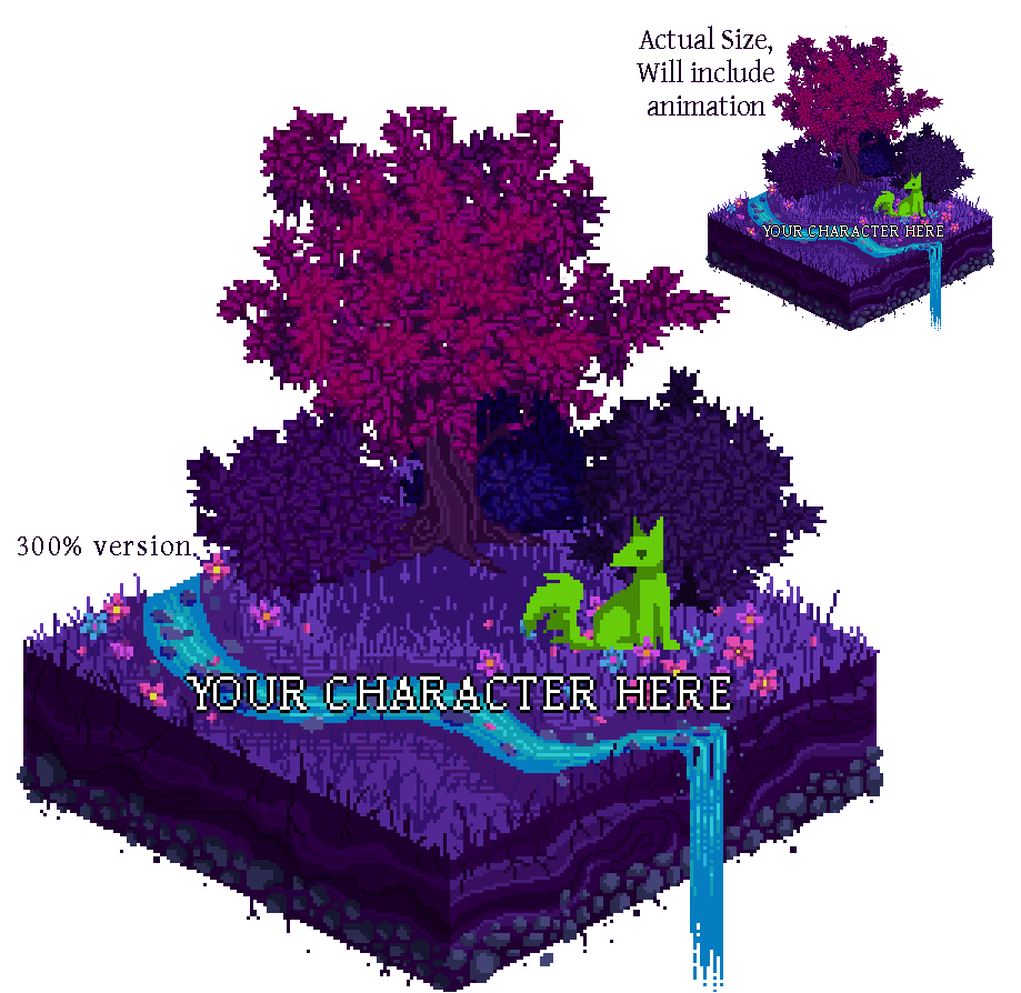 Pixel Forest Scene YCH