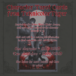 Character Tarot Card Commissions Are Open!