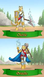 RainFurrest class badges - cleric / oracle