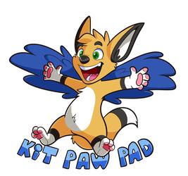 Kit Paw Pad Badge