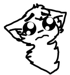 a sad cat ;-;
