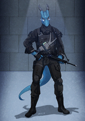 Commission: Blue Dragon