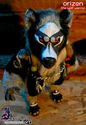 OOAK Art Doll - Orizen the Wolf Warrior