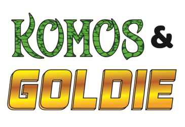 New 'Komos & Goldie' logo