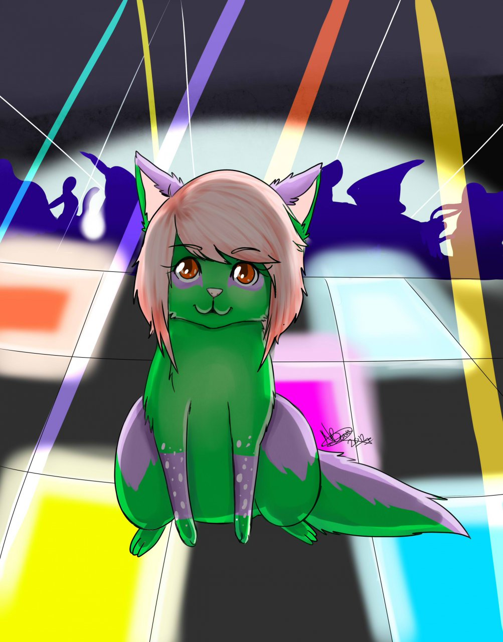 Raving NeonBreezyRayne Feral Chibi