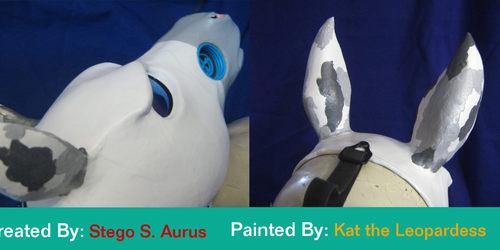 Painted Gas Mask: Mottled Equine Design