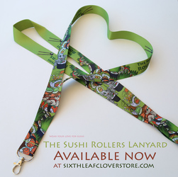 The Sushi Rollers Lanyard