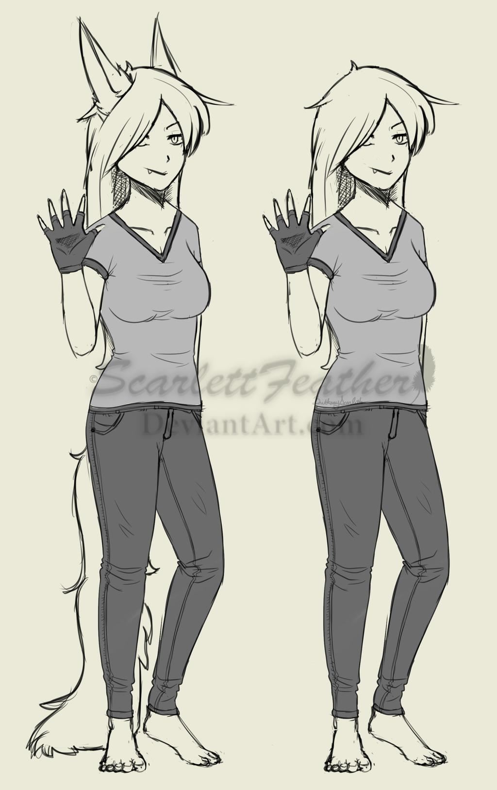 .Sketch. Human Vicious Concept