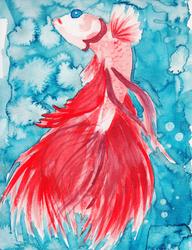 Watercolor: Betta