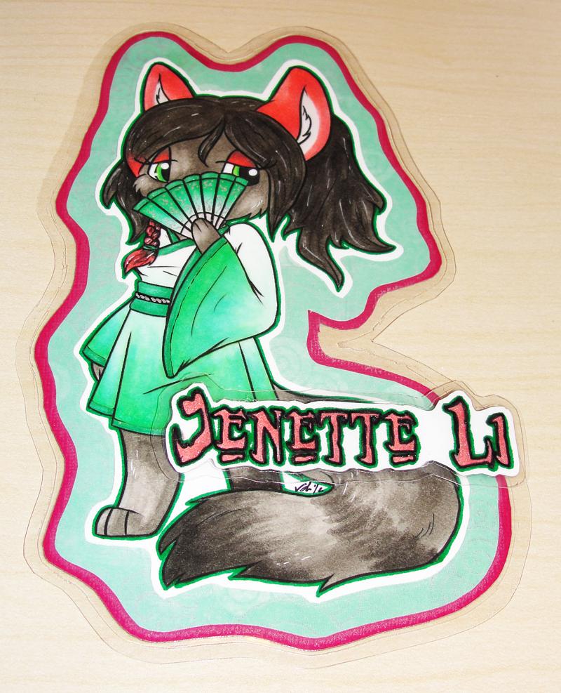 Chibi Jenette Li Badge