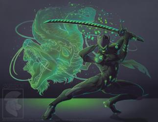 Commission - Talon!Genji
