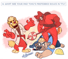 Q: What Are Kio and Toku's Preferred Roles in TF2?