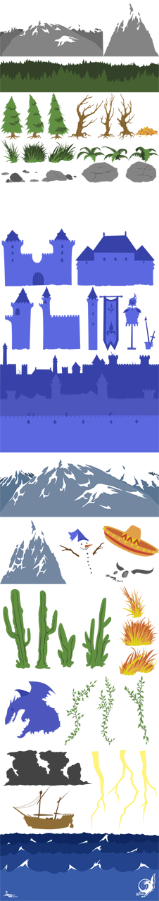 ALL the Assets - for a 2D Animation