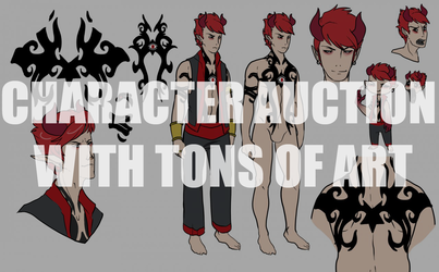 Character Auction with 12 pieces of art