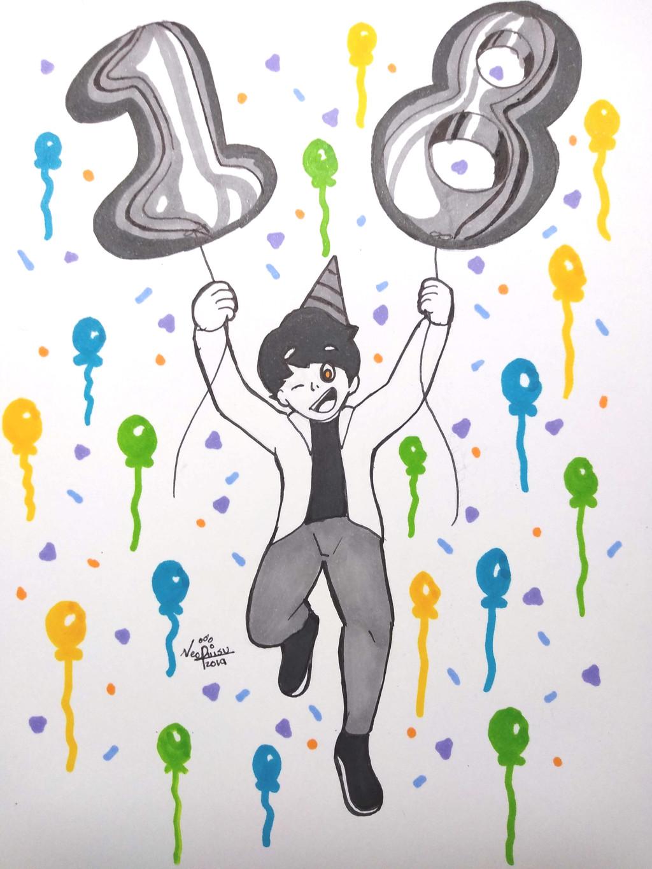 Inktober 5th 2019: Birthday