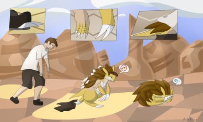 Inktober Day 19: Sandslash TF (Scorched)