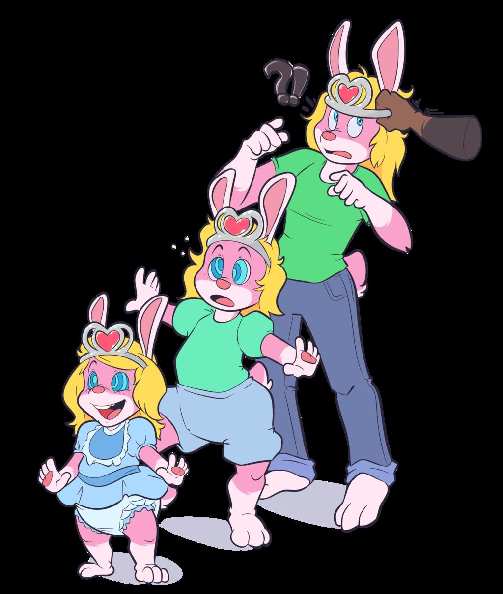 bunny becoming babby