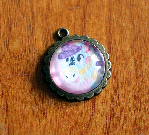 Churro Glass Pendant