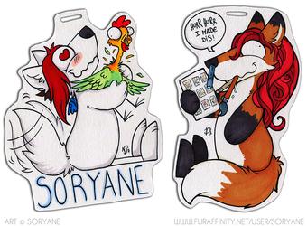 Soryane & Vivienne - Derp Badges