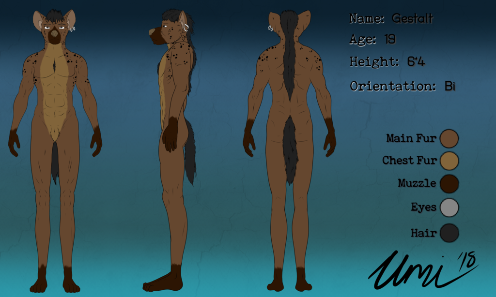 Most recent image: Commission: Ref Sheet - Gestalt