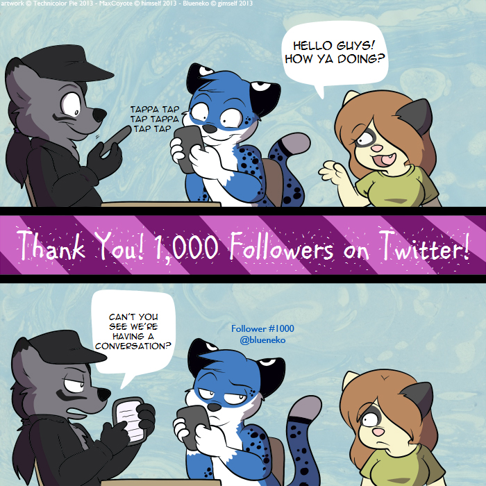 [COM] 1000 Followers on @maxyote Twitter! Thank You!!!