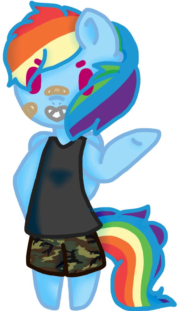 Most recent image: rainbow anthro horse