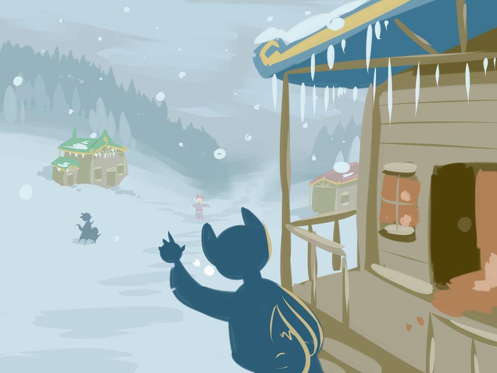 112918 Snowy Town (Concept Art)
