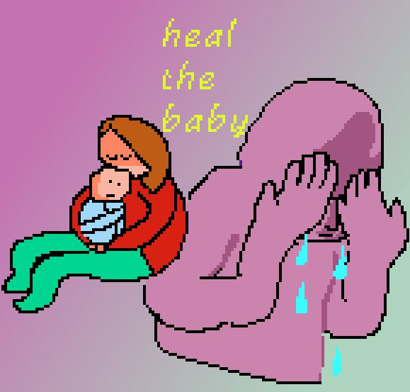 Most recent image: swaddle that baby