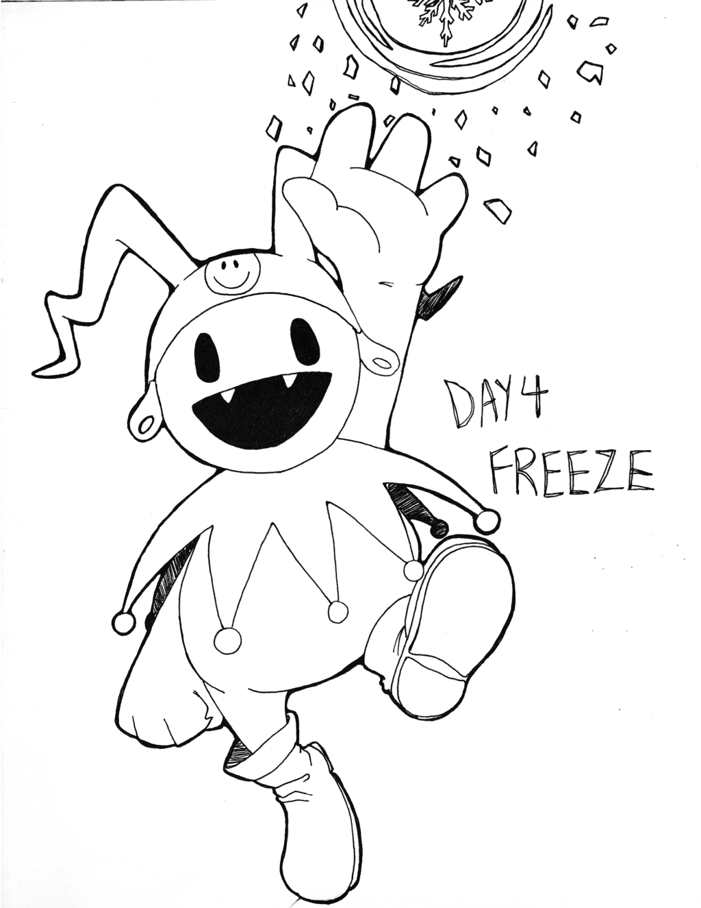 Inktober 2019 - Day 4: Freeze