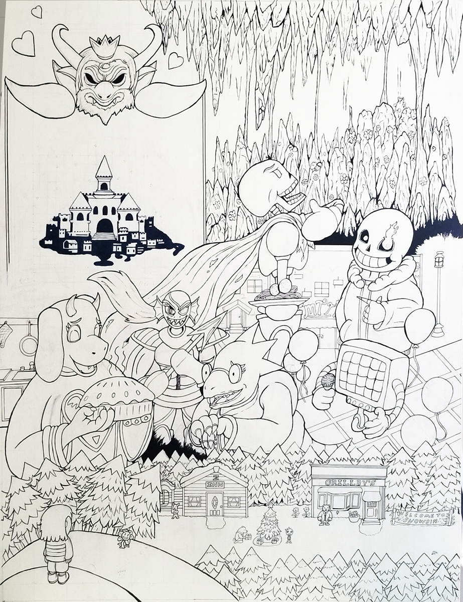 Undertale Poster inked