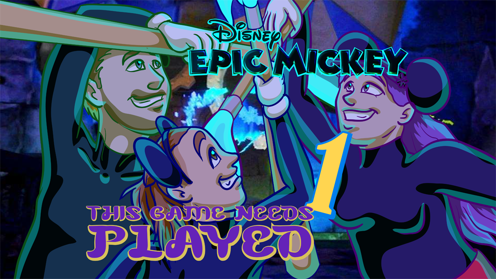 Epic Mickey Title Card Art