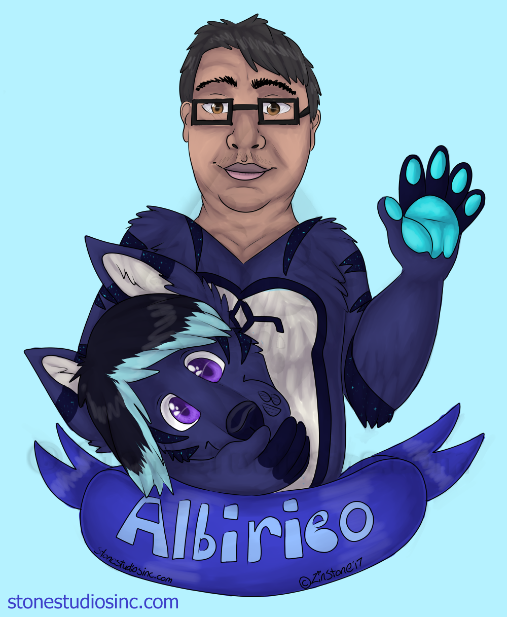 Albi Fursuit alter ego badge commish