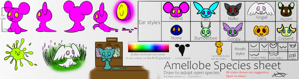 Amellobe Species reference sheet 2020 (V2)