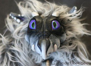 Sot the youngling ash dragon doll - closeup