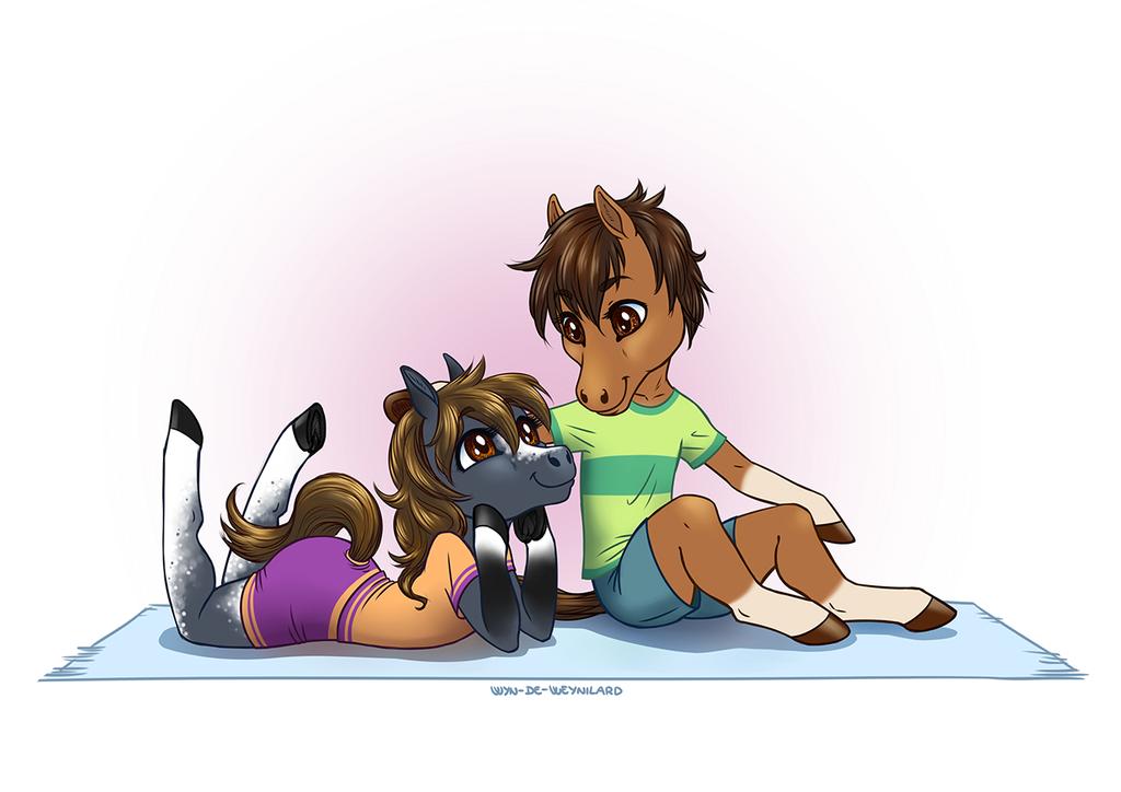 Chibi Horses!! - Commission