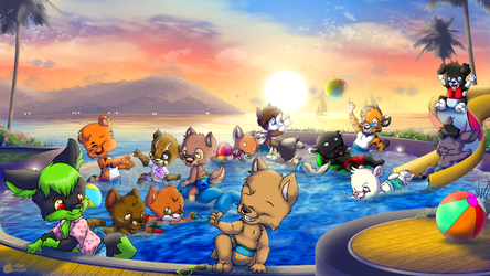 BabyFur Pool Party - By TaviMunk