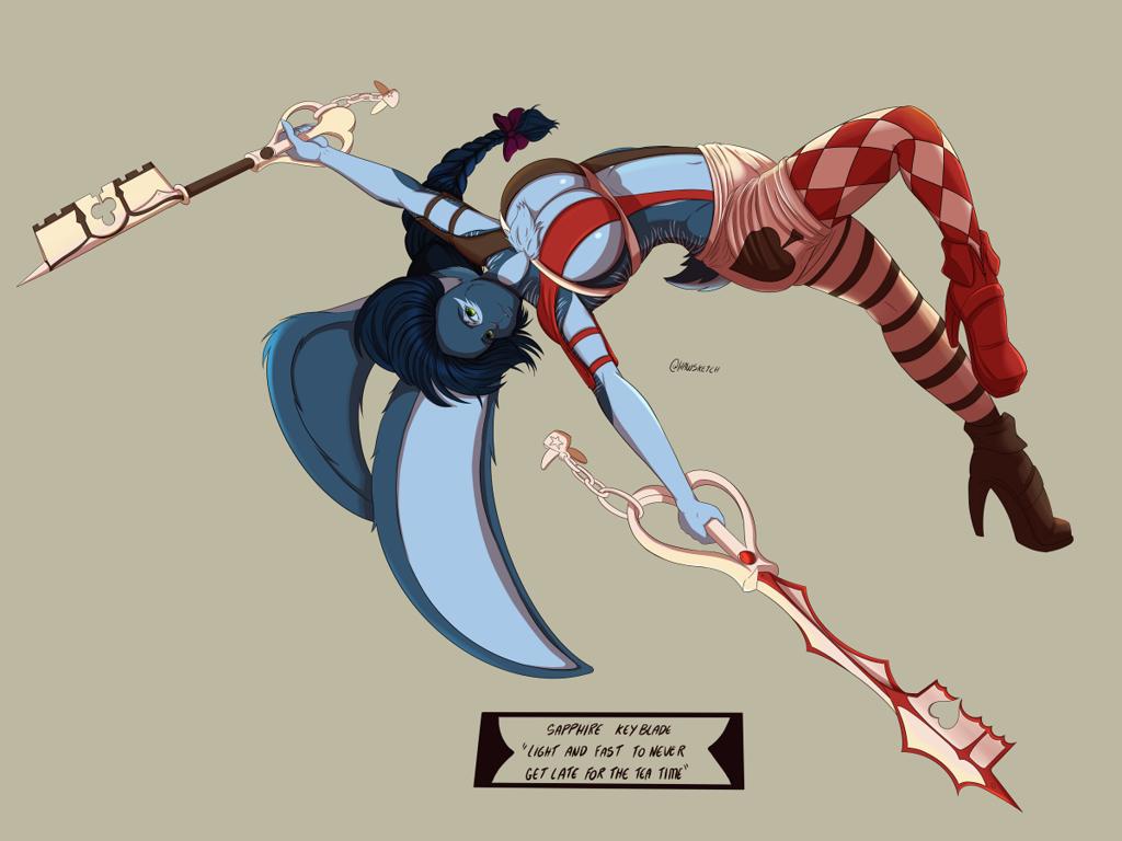 Keyblade Sapphire by Hawlus
