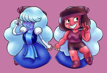 Steven Universe - Ruby / Sapphire Charm Art