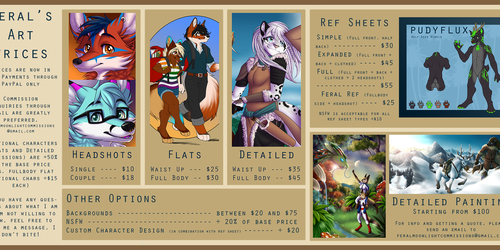 Feral's New Commission Prices