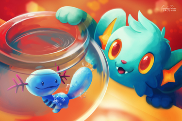 Shinx and Wooper